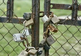 gate with padlocks