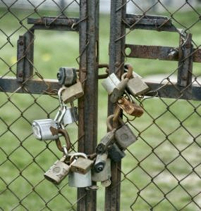 gate with padlocks