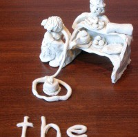Clay model of the word The