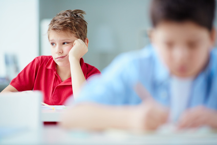 Disengaged child in classroom