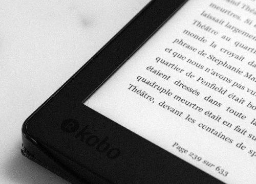 corner of e-reader